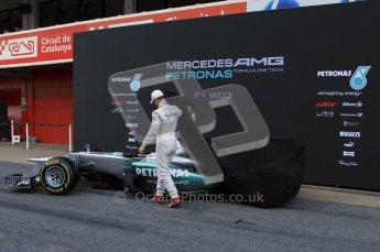 © 2012 Octane Photographic Ltd. Barcelona Winter Test 1 Day 1 - Tuesday 21st February 2012. Mercedes W03 Pit Lane Launch. Digital Ref : 0225lw7d4885