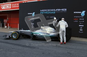 © 2012 Octane Photographic Ltd. Barcelona Winter Test 1 Day 1 - Tuesday 21st February 2012. Mercedes W03 Pit Lane Launch. Digital Ref : 0225lw7d4895