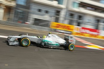 © Octane Photographic Ltd. 2012. F1 Monte Carlo - Practice 3. Saturday 26th May 2012. Nico Rosberg - Mercedes. Digital Ref : 0354cb1d6394
