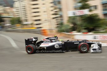 © Octane Photographic Ltd. 2012. F1 Monte Carlo - Race. Sunday 27th May 2012. Bruno Senna - Williams. Digital Ref : 0357cb1d7685