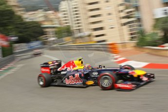 © Octane Photographic Ltd. 2012. F1 Monte Carlo - Race. Sunday 27th May 2012. Mark Webber - Red Bull. Digital Ref : 0357cb1d7710