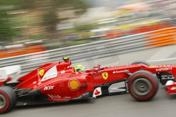 © Octane Photographic Ltd. 2012. F1 Monte Carlo - Race. Sunday 27th May 2012. Felipe Massa - Ferrari. Digital Ref : 0357cb1d7773