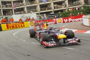 © Octane Photographic Ltd. 2012. F1 Monte Carlo - Race. Sunday 27th May 2012. Mark Webber - Red Bull. Digital Ref : 0357cb1d7888