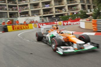 © Octane Photographic Ltd. 2012. F1 Monte Carlo - Race. Sunday 27th May 2012. Nico Hulkenberg - Force India. Digital Ref : 0357cb1d7910
