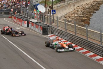 © Octane Photographic Ltd. 2012. F1 Monte Carlo - Race. Sunday 27th May 2012. Paul di Resta - Force India, Jean-Eric Vergne - Force India. Digital Ref : 0357cb7d0045