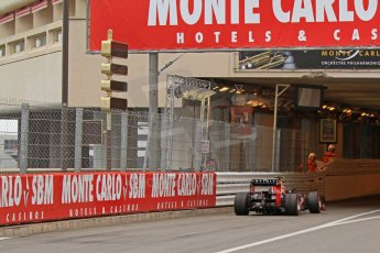 © Octane Photographic Ltd. 2012. F1 Monte Carlo - Race. Sunday 27th May 2012. Mark Webber enters the tunnel. Digital Ref : 0357cb7d0075