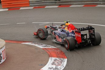 © Octane Photographic Ltd. 2012. F1 Monte Carlo - Race. Sunday 27th May 2012. Mark Webber - Red Bull. Digital Ref : 0357cb7d0150