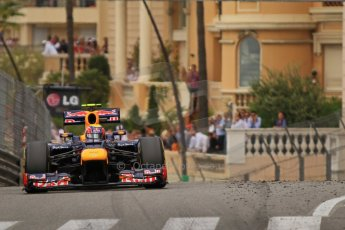 © Octane Photographic Ltd. 2012. F1 Monte Carlo - Race. Sunday 27th May 2012. Mark Webber - Red Bull. Digital Ref : 0357cb7d0259