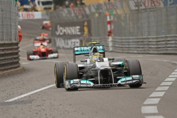 © Octane Photographic Ltd. 2012. F1 Monte Carlo - Race. Sunday 27th May 2012. Nico Rosberg - Mercedes. Digital Ref : 0357cb7d0336