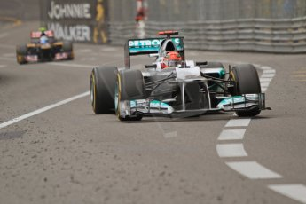 © Octane Photographic Ltd. 2012. F1 Monte Carlo - Race. Sunday 27th May 2012. Michael Schumacher - Mercedes. Digital Ref : 0357cb7d0376