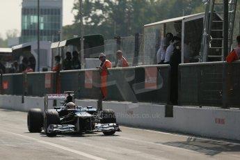 © 2012 Octane Photographic Ltd. Italian GP Monza - Saturday 8th September 2012 - F1 Qualifying. Williams FW34 - Pastor Maldonado. Digital Ref :