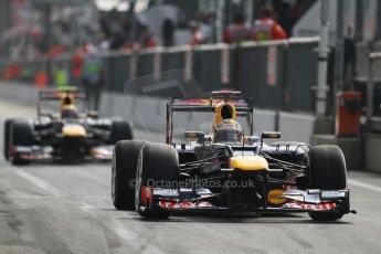 © 2012 Octane Photographic Ltd. Italian GP Monza - Saturday 8th September 2012 - F1 Qualifying. Red Bull RB8s of Sebastian Vettel and Mark Webber. Digital Ref :