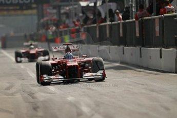 © 2012 Octane Photographic Ltd. Italian GP Monza - Saturday 8th September 2012 - F1 Qualifying. Ferrari F2012 - Fernando Alonso and Felipe Massa. Digital Ref :