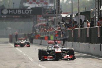 © 2012 Octane Photographic Ltd. Italian GP Monza - Saturday 8th September 2012 - F1 Qualifying. McLaren MP4/27 - Jenson Button. Digital Ref : 0513lw7d8310