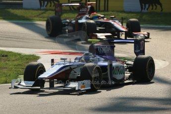 © 2012 Octane Photographic Ltd. Italian GP Monza - Friday 7th September 2012 - GP2 Qualifying - Trident Racing - Julian Leal and enezuela GP Lazarus - Sergio Canamasas. Digital Ref : 0508lw1d0289