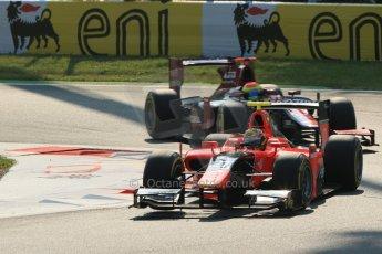 © 2012 Octane Photographic Ltd. Italian GP Monza - Friday 7th September 2012 - GP2 Qualifying - Carlin - Rio Haryanto and Venezuela GP Lazarus - Sergio Canamasas. Digital Ref : 0508lw1d9824