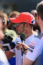 World © Octane Photographic Ltd. Formula 1 Italian GP, Press Conference 6th September 2012 - Lewis Hamilton - Vodafone McLaren Mercedes. Digital Ref : 0494lw1d9073
