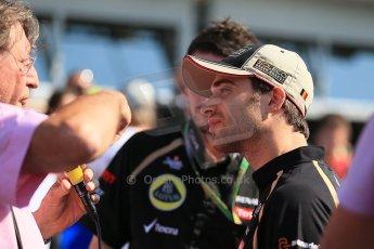 World © Octane Photographic Ltd. Formula 1 Italian GP, Press Conference 6th September 2012 - Jerome d'Ambrosio - Lotus. Digital Ref : 0494lw1d9095