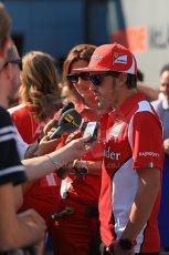 World © Octane Photographic Ltd. Formula 1 Italian GP, Press Conference 6th September 2012 - Fernando Alonso - Ferrari. Digital Ref : 0494lw1d9108