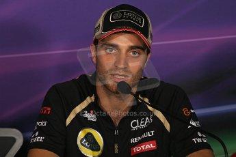World © Octane Photographic Ltd. Formula 1 Italian GP, Press Conference 6th September 2012 - Jerome d'Ambrosio - Lotus. Digital Ref : 0494lw7d4902