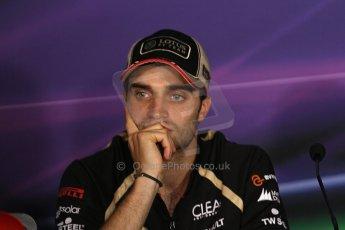 World © Octane Photographic Ltd. Formula 1 Italian GP, Press Conference 6th September 2012 - Jerome d'Ambrosio - Lotus. Digital Ref : 0494lw7d5111