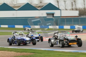 © Octane Photographic Ltd. Motors TV day – Donington Park, Saturday 31st March 2012. Caterham Graduates - Mega and Classic classes. Peter Marsh. Digital ref : 0267cb7d6189