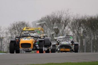 © Octane Photographic Ltd. Motors TV day – Donington Park, Saturday 31st March 2012. Caterham Graduates - Mega and Classic classes. Digital ref : 0267lw7d7866