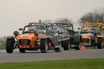 © Octane Photographic Ltd. Motors TV day – Donington Park,  Saturday 31st March 2012. Caterham Graduates - Mega and Classic classes. Digital ref : 0267lw7d8091