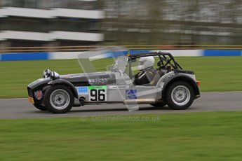 © Octane Photographic Ltd. Motors TV day – Donington Park, Saturday 31st March 2012. Caterham Graduates - Mega and Classic classes. Digital ref : 0267lw7d8112