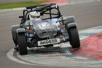 © Octane Photographic Ltd. Motors TV day – Donington Park, Saturday 31st March 2012. Caterham Graduates – Super and Sigma classes. Digital ref : 0269cb1d0396