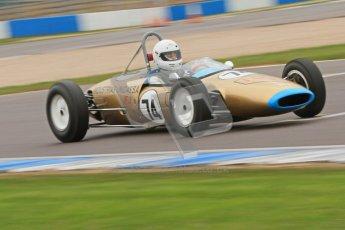 © Octane Photographic Ltd. Motors TV day – Donington Park,  Saturday 31st March 2012. Formula Junior 2nd session, Francesco Baldanza - Lotus 22. Digital ref : 0268cb7d6257