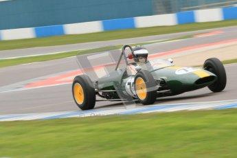 © Octane Photographic Ltd. Motors TV day – Donington Park,  Saturday 31st March 2012. Formula Junior 2nd session, Peter Anstiss - Lotus 20/22. Digital ref : 0268cb7d6271