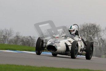 © Octane Photographic Ltd. Motors TV day – Donington Park,  Saturday 31st March 2012. Formula Junior 2nd session, Justin Fleming - Elva 100. Digital ref : 0268lw7d8283