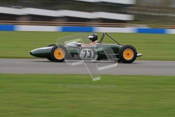 © Octane Photographic Ltd. Motors TV day – Donington Park,  Saturday 31st March 2012. Formula Junior 2nd session, Peter Anstiss - Lotus 20/22. Digital ref : 0268lw7d8561