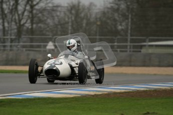 © Octane Photographic Ltd. Motors TV day – Donington Park,  Saturday 31st March 2012. Formula Junior Free practice, Justin Fleming - Elva 100. Digital ref : 0264lw7d6664