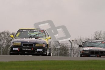 © Octane Photographic Ltd. Motors TV day – Donington Park, Saturday 31st March 2012. Kumho BMW Championship, James Ford - BMW 318ti. Digital ref : 0266lw7d7556
