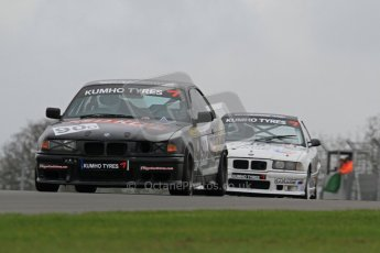 © Octane Photographic Ltd. Motors TV day – Donington Park, Saturday 31st March 2012. Kumho BMW Championship, Mike Hibbert - BMW E36 318is. Digital ref : 0266lw7d7561