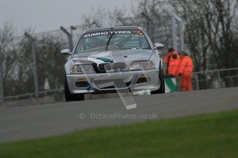 © Octane Photographic Ltd. Motors TV day – Donington Park,  Saturday 31st March 2012. Kumho BMW Championship, James Card - BMW E46 M3. Digital ref : 0266lw7d7705