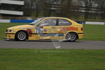 © Octane Photographic Ltd. Motors TV day – Donington Park,  Saturday 31st March 2012. Kumho BMW Championship, James Cannon - BMW Compact. Digital ref : 0266lw7d7738