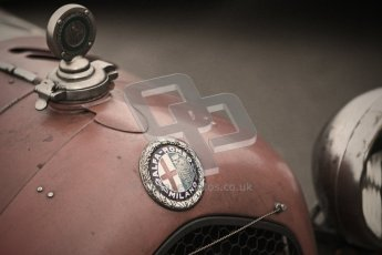 © Octane Photographic Ltd. Motors TV day – Donington Park,  Saturday 31st March 2012. VSCC Pre-War Sportscars with a retro look edit, Neil Twyman - Alfa Romeo 8C. Digital ref : 0270cb1d8867