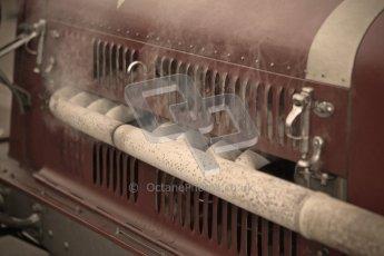 © Octane Photographic Ltd. Motors TV day – Donington Park, Saturday 31st March 2012. VSCC Pre-War Sportscars with a retro look edit, Neil Twyman - Alfa Romeo 8C. Digital ref : 0270cb1d8873