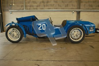 © Octane Photographic Ltd. Motors TV day – Donington Park,  Saturday 31st March 2012. VSCC Pre-War Sportscars, James Potter - Riley Brooklands. Digital ref : 0265cb1d8882