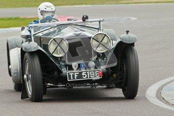 © Octane Photographic Ltd. Motors TV day – Donington Park,  Saturday 31st March 2012. VSCC Pre-War Sportscars, Trevor Swete - Invicta S Type. Digital ref : 0265cb1d9121