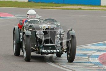 © Octane Photographic Ltd. Motors TV day – Donington Park,  Saturday 31st March 2012. VSCC Pre-War Sportscars, David Downes - MG NA. Digital ref : 0265cb1d9159