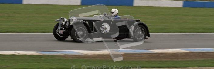 © Octane Photographic Ltd. Motors TV day – Donington Park, Saturday 31st March 2012. VSCC Pre-War Sportscars, Trevor Swete - Invicta S Type. Digital ref : 0265lw7d7068