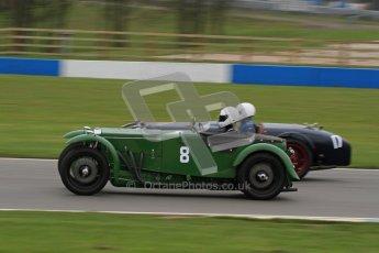 © Octane Photographic Ltd. Motors TV day – Donington Park,  Saturday 31st March 2012, Joshua Beebee - Frazer Nash TT rep. VSCC Pre-War Sportscars. Digital ref : 0265lw7d7097