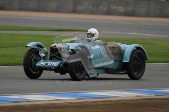 © Octane Photographic Ltd. Motors TV day – Donington Park,  Saturday 31st March 2012. VSCC Pre-War Sportscars, Clive Temple - Riley Brooklands. Digital ref : 0265lw7d7120