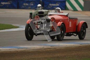 © Octane Photographic Ltd. Motors TV day – Donington Park,  Saturday 31st March 2012. VSCC Pre-War Sportscars, Robin Toone - Alfa Romeo 1750. Digital ref : 0265lw7d7341