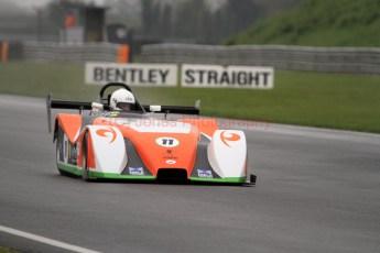 © Jones Photography. OSS Championship Round 1, Snetterton, 28th April 2012. Jonathan Hair, Mallock Beagle Mk3 6DD. Digital Ref: 0390CJ7D9650