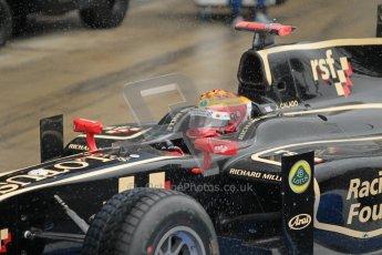 © 2012 Octane Photographic Ltd. British GP Silverstone - Friday 6th July 2012 - GP2 Qualifying - Lotus GP - James Calado. Digital Ref : 0399lw1d3086